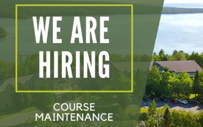 Now Hiring – Course Maintenance